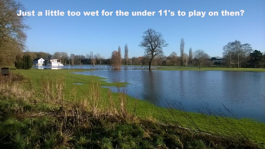 13th Dec 2014 - Perhaps a little too wet for the under 11s to play on?